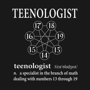Teenologist Septagram t-shirts
