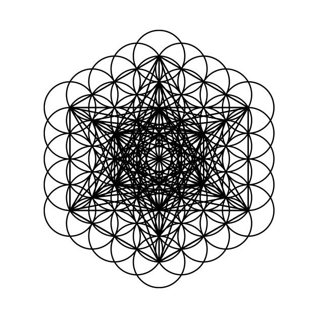 Metatrons cube Black