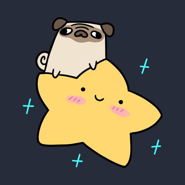 Pug Riding a Star