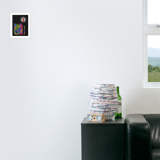Cuscini Tetris.Tetris Excitement Tetris Poster E Stampa Artistica Teepublic It