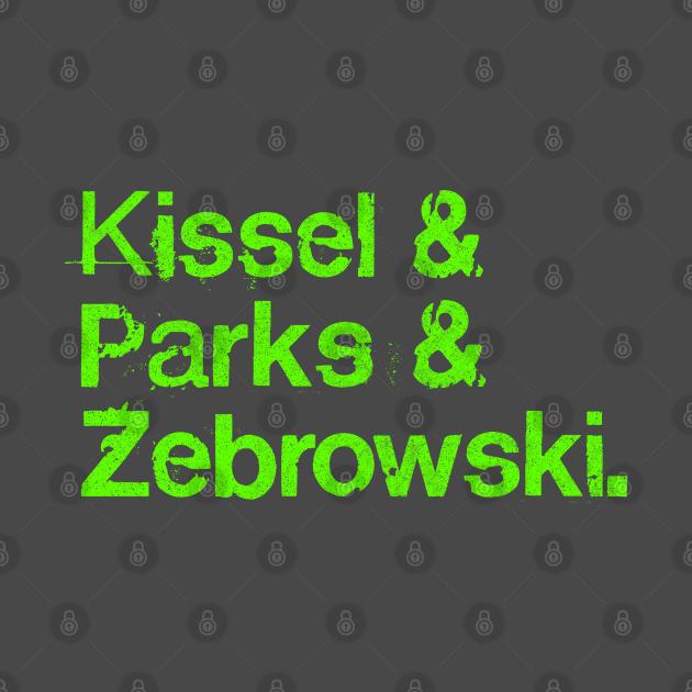 Kissel Parks And Zebrowski - Grunge Typographic Tribute Design