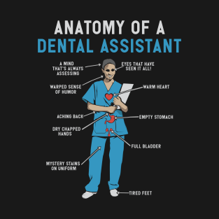 d20c2306d6 Anatomy of Dental Assistant T-Shirt and Gifts - Funny Dental Assistant Gift  T-Shirt