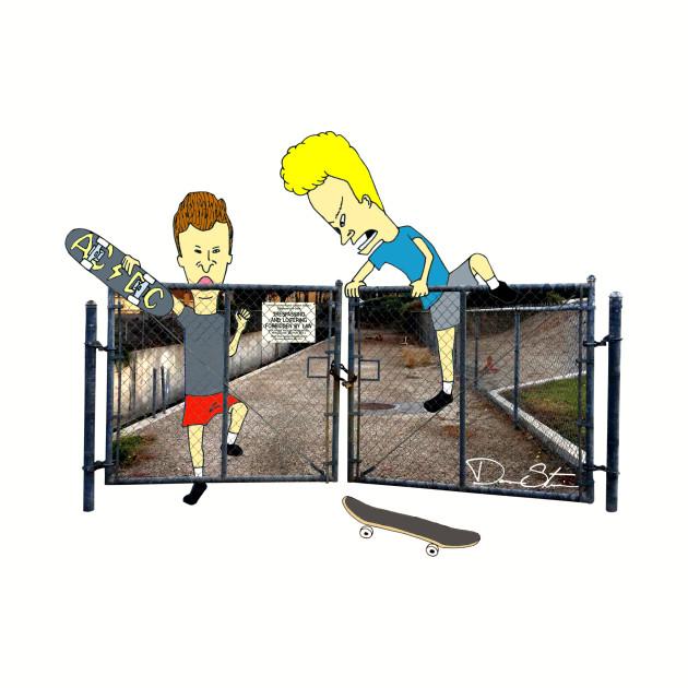 Beavis & Butthead Fence Hop
