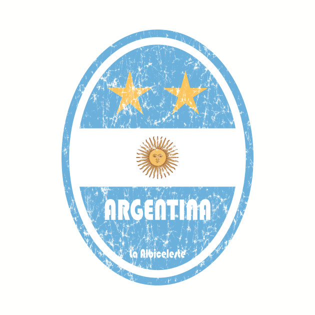 World Cup Football 5/8 - Argentina (Distressed)
