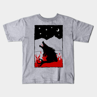 Wolf Pack of One Full Moon Girls Youth Graphic T Shirt Design By Humans