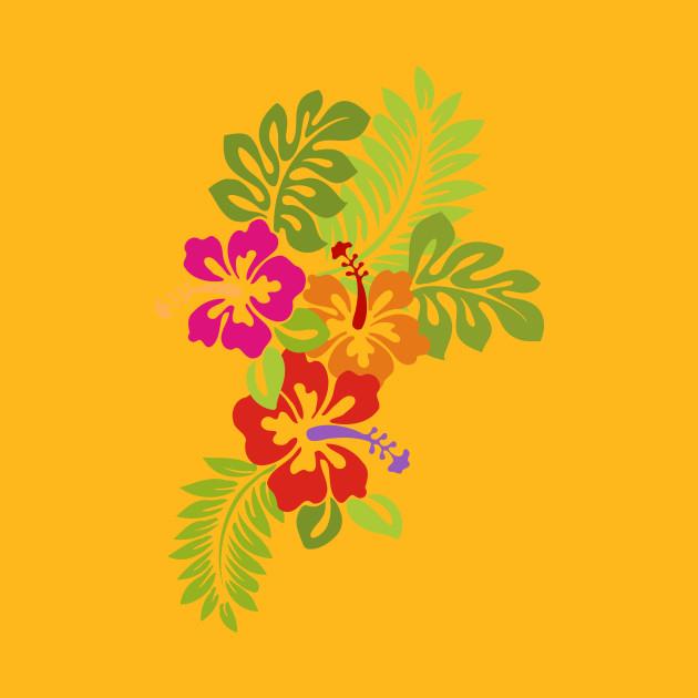 Tropical Hibiscus Blossoms Bouquet