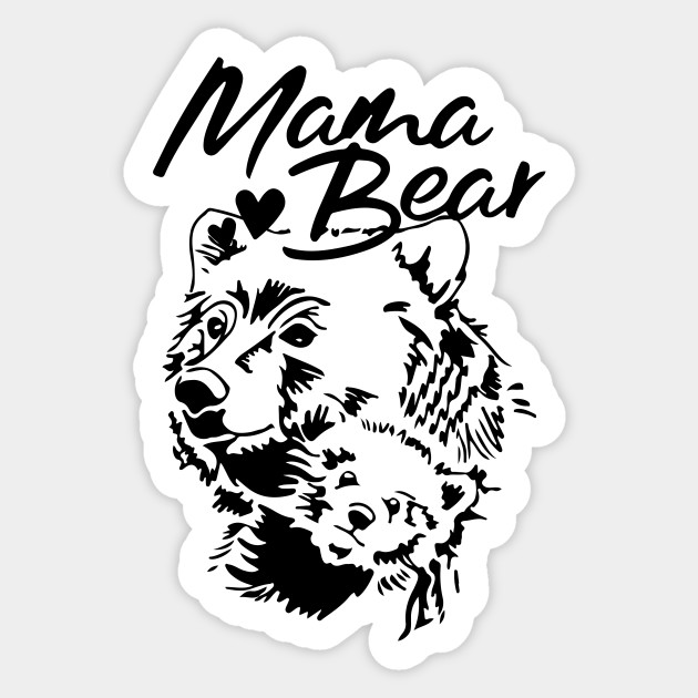 Mama Bear Baby Bear Papa Bear Tshirt Mama Bear Shirt Matching Family Shirt Mom Dad Black And White Happy Mothers Day I Love You Mom Womens Mama
