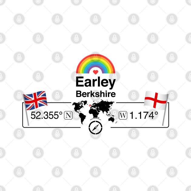 Earley, Berkshire with St. Georges Flag and Rainbow