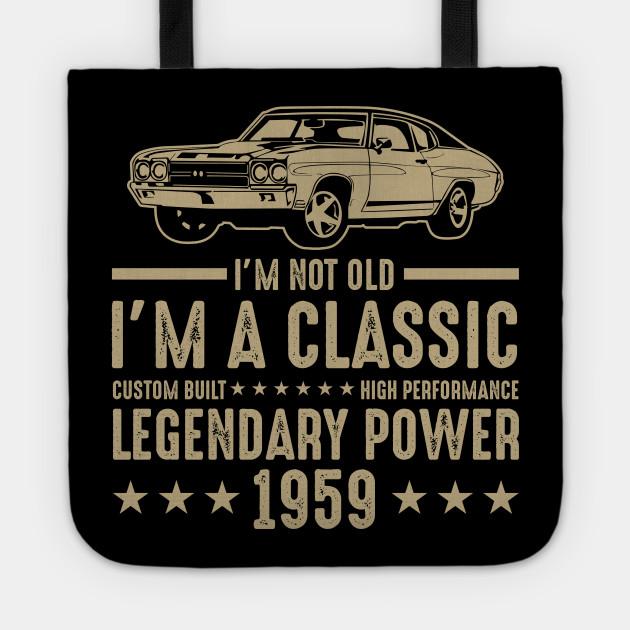 Classic 1959 T Shirt For Men Women 60th Birthday Gift Ideas