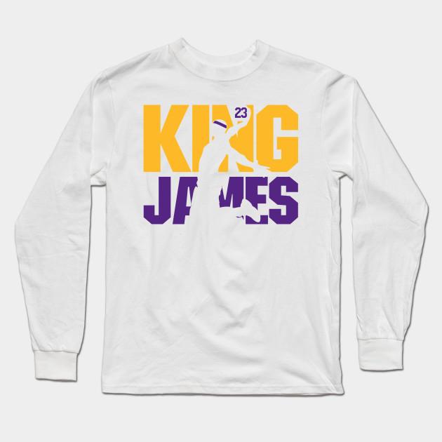 8645a1726f5 King James Lakers - Lebron James - Long Sleeve T-Shirt