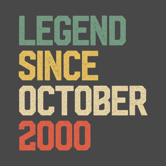 19th Birthday Present Gift Year 2000 All Original Parts Funny Retro T-Shirt
