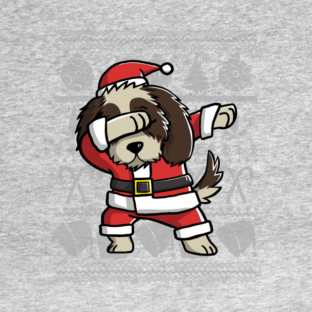 Dabbing Shih Tzu Ugly Christmas Sweater Graphic