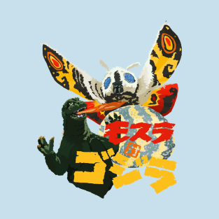 Skreeonk.com's Exclusive MOTHRA vs GODZILLA Tee! t-shirts