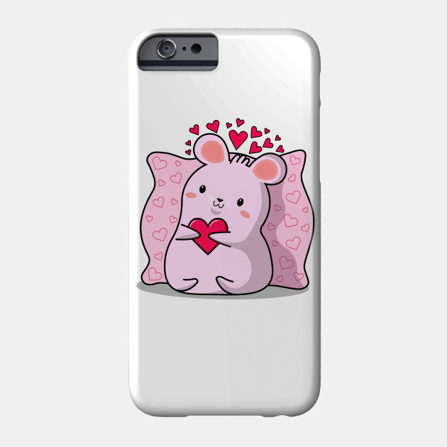 kawaii style, lovers mice, Valentine's day, cute kawaii mice. Phone Case
