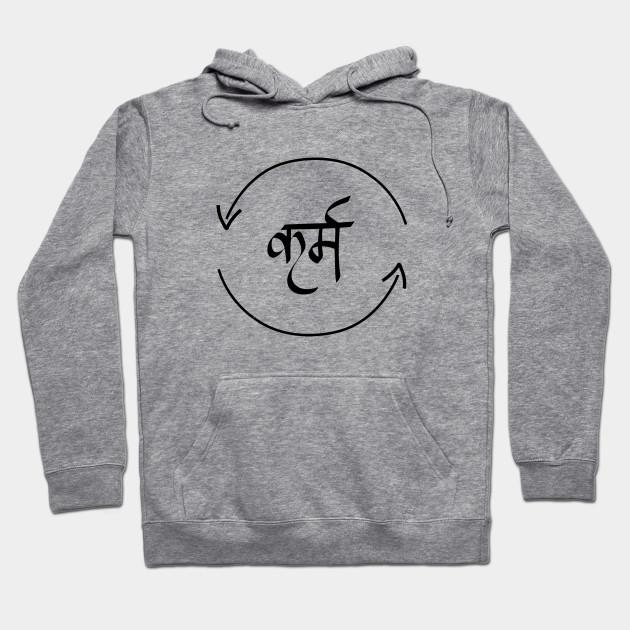 diseño de calidad 05691 e6611 Karma in Hindi Cycle of Life Spirituality Hindu Dharma T-shirt