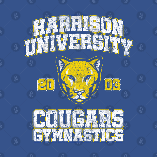 Harrison University Cougars Gymnastics (Variant) - Old School