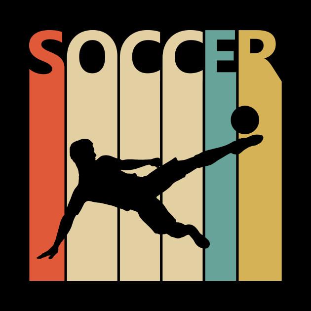 Vintage Retro Soccer Player Gift