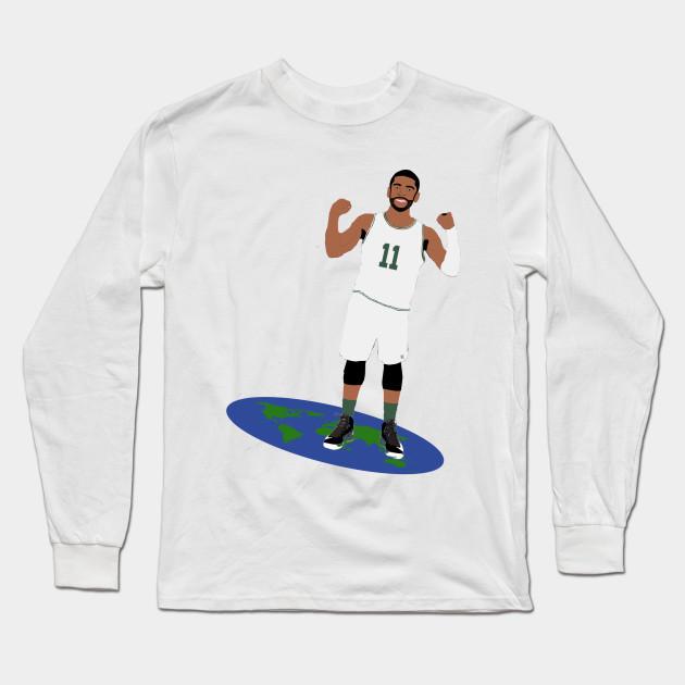 316fd80f5 Kyrie Irving Tip the Earth Tee - Celtics - Long Sleeve T-Shirt ...