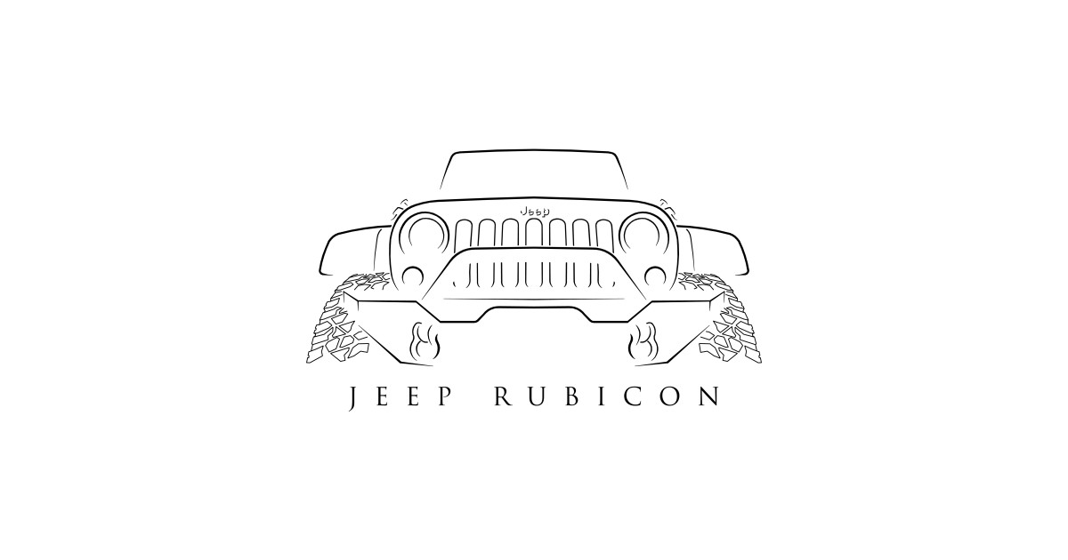 jeep wrangler rubicon - stencil - jeep