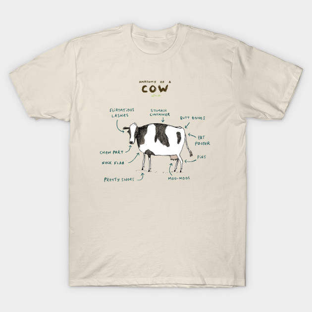 Anatomy of a Cow - Bovine - T-Shirt | TeePublic