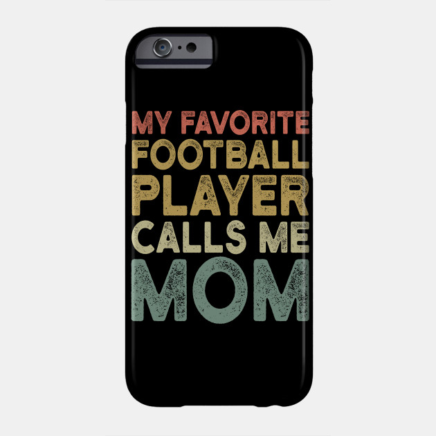 Retro Football Mom - Funny Football Lover Gift For Mother Phone Case