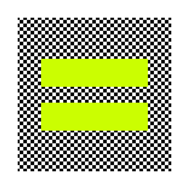 Checkerboard Equality neon yellow