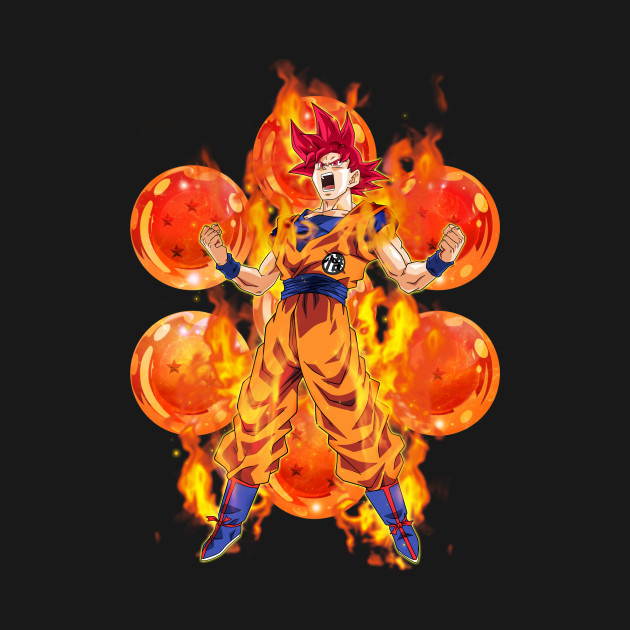 DBZ - Super Saiyan God Goku