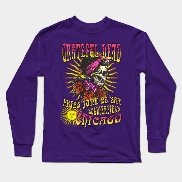 The Grateful Dead Concert Poster, distressed Long Sleeve T-Shirt