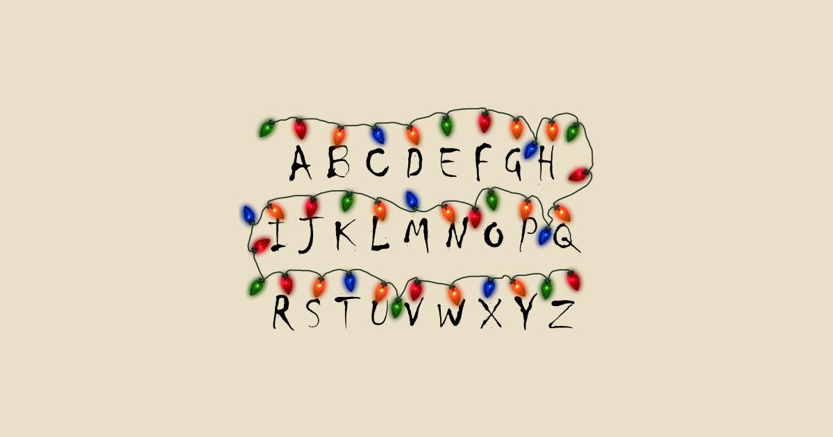 Stranger Things Christmas Lights Png.Stranger Things Christmas T Shirts Teepublic