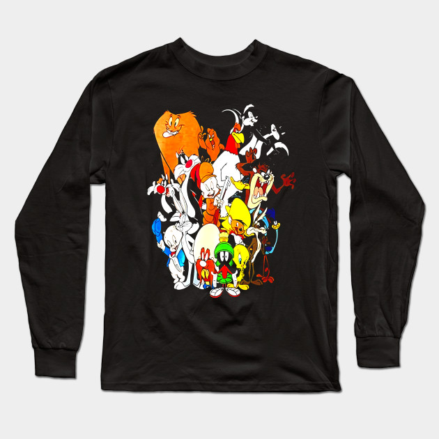 Looney Tunes Wanted Adult Black Back 100/% Poly T-Shirt