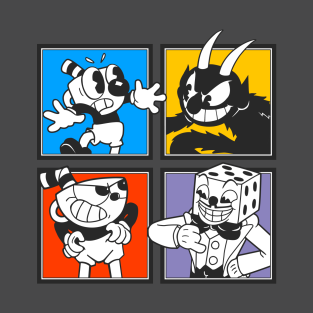 Cuphead Characters t-shirts