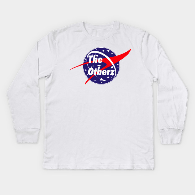 a053bba26c3624 Otherz OG NASA Podcast logo - Otherz Podcast - Kids Long Sleeve T ...