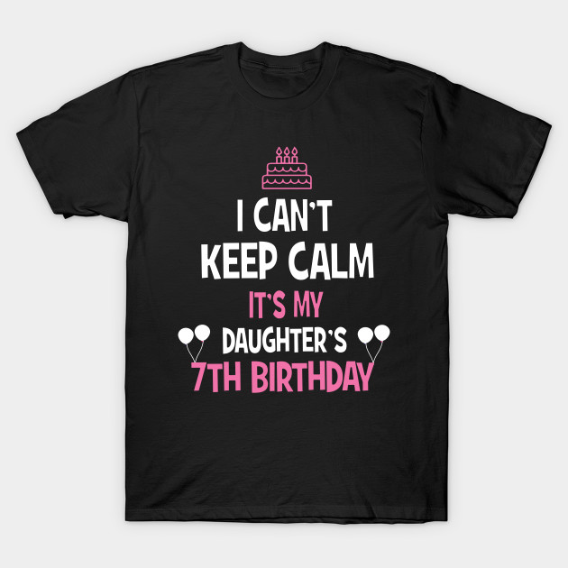 7th Birthday Girl Boy T Shirt 7 Years Old Party Gift