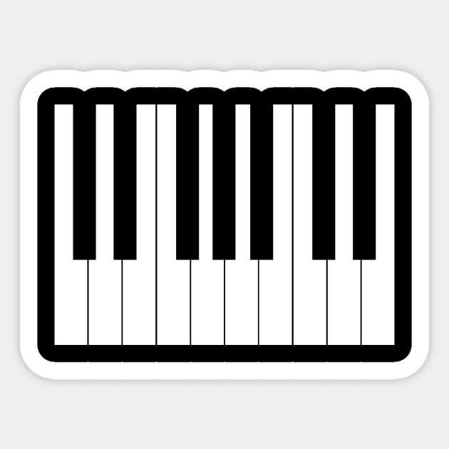 picture about Piano Key Stickers Printable named Piano keys