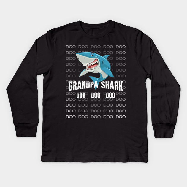 762f8093 Grandpa Shark Shirt Doo Doo Matching Family Shark T-Shirt Kids Long Sleeve T -Shirt