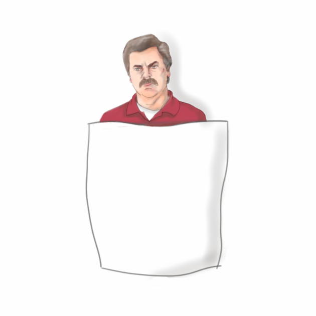 Ron Swanson in a pocket