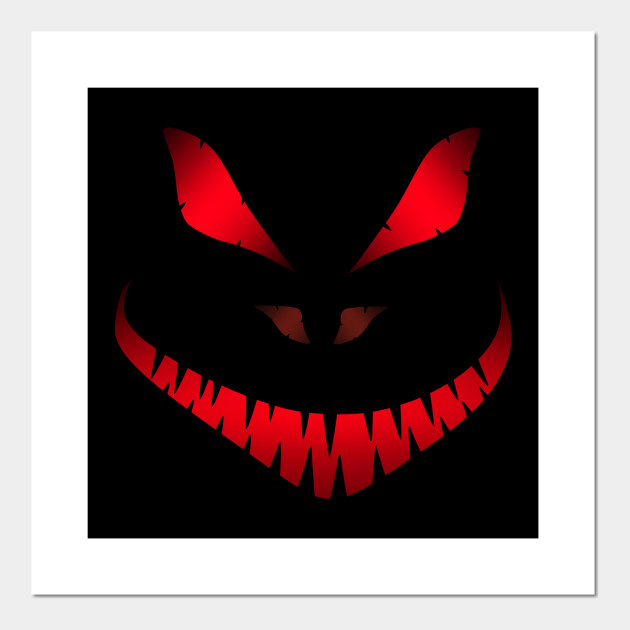 Halloween Poster Art.Halloween Scary Face Red