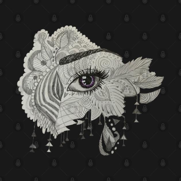 Eye Zentangle - Original Sketch