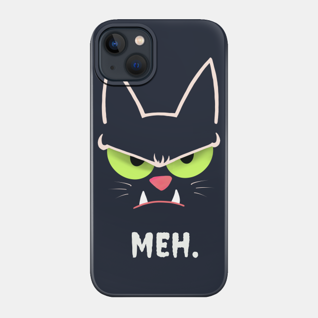 Sarcastic Funny Angry Cat MEH Halloween Costume Gift