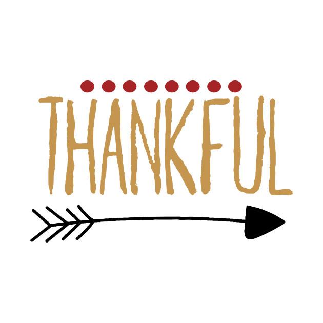 Thankful Hand Writing Arrow