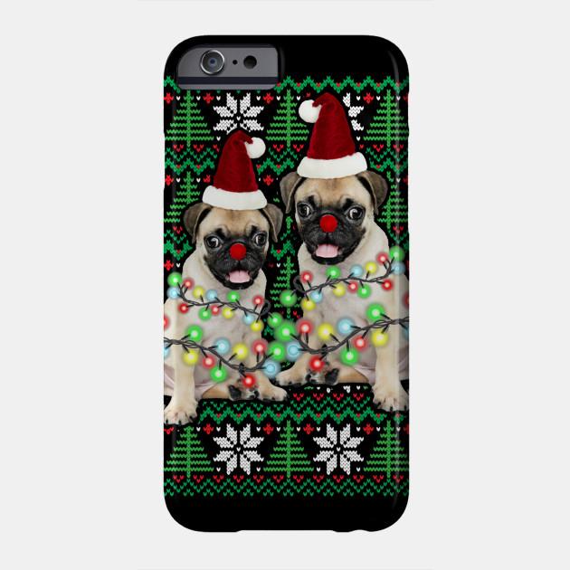Pug Ugly Christmas Dog Funny Christmas Gift Men Phone Case