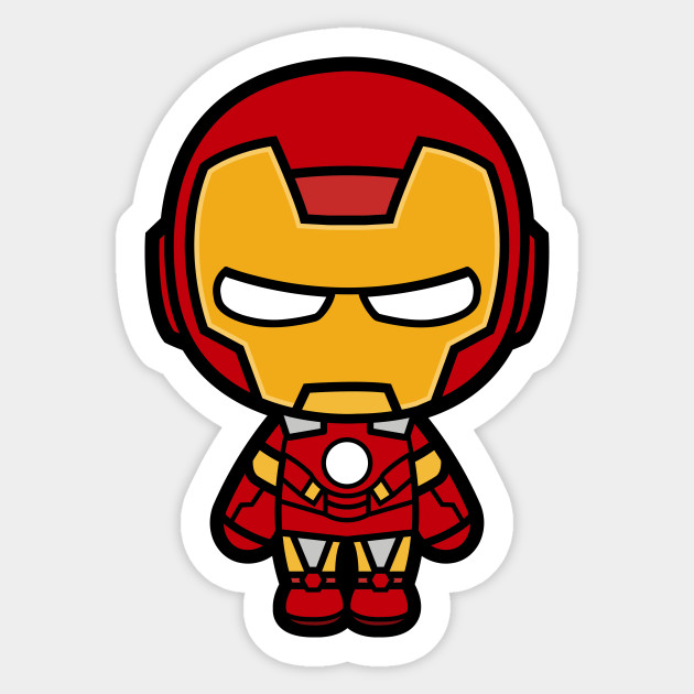 Mini iron man hero sticker teepublic - Mini iron man ...