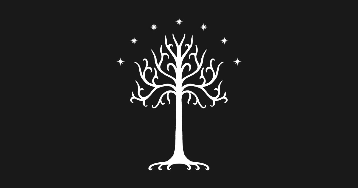 White Tree Of Gondor White Lord Of The Rings T Shirt