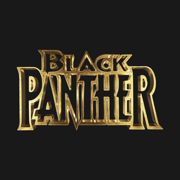 Black Panther Logo Gold - Black Panther - T-Shirt   TeePublic