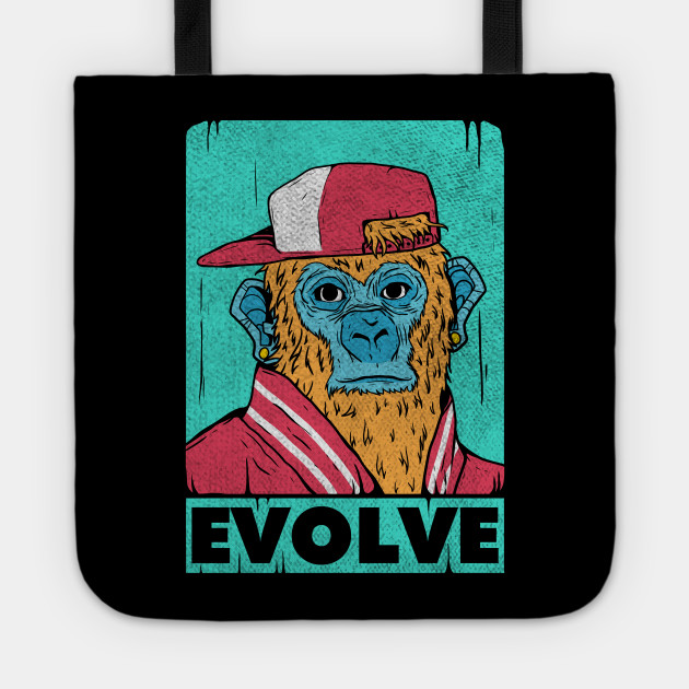 Ape Pop Art Evolve Vintage Retro Art