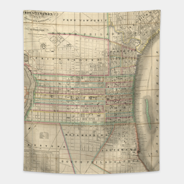Vintage Map of Philadelphia Pennsylvania (1830)