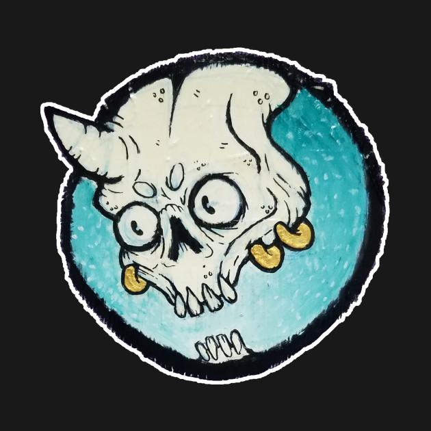 turquoise devil bones horror t shirt teepublic