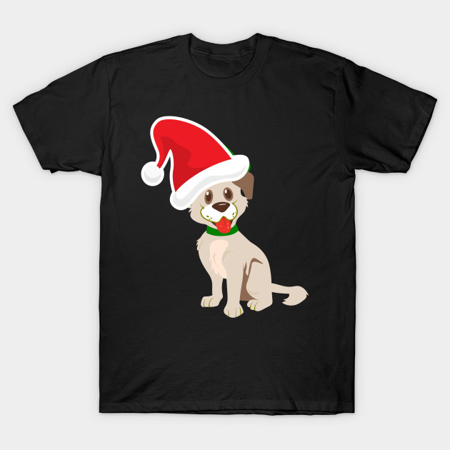 Funny Xmas Puppy Christmas Dog T Shirt Christmas Gifts Merry
