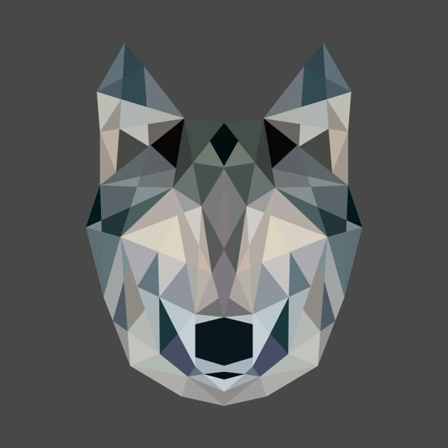 Geometric Wolf - Geometric - T-Shirt | TeePublic