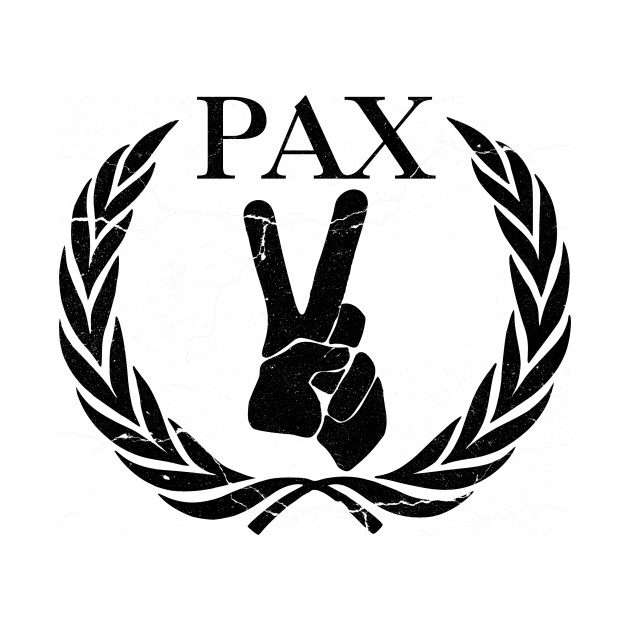 Pax Distressed World Peace Crewneck Sweatshirt Teepublic
